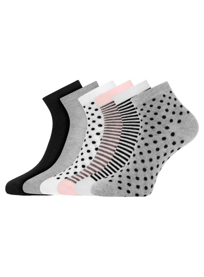 Комплект укороченных носков (6 пар) oodji для женщины (разноцветный), 57102418T6/47469/74