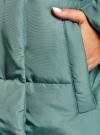Пальто утепленное с воротником-стойкой oodji #SECTION_NAME# (зеленый), 10203077/45934/6C00N - вид 5