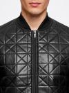 Куртка-бомбер из искусственной кожи oodji для мужчины (черный), 1L511044M/44375N/2900N - вид 4