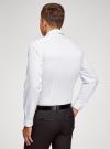 Рубашка приталенного силуэта с длинным рукавом oodji для мужчины (белый), 3L110372M/49641N/1079G - вид 3