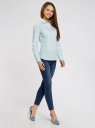 Рубашка приталенная с нагрудными карманами oodji #SECTION_NAME# (синий), 11403222-4/46440/7010S - вид 6