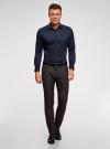 Рубашка базовая приталенная oodji для мужчины (синий), 3B140000M/34146N/7900N - вид 6