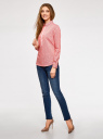 Рубашка приталенная с нагрудными карманами oodji #SECTION_NAME# (красный), 11403222-4/46440/4310S - вид 6