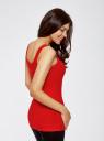 Майка базовая oodji для женщины (красный), 14315001B/45307/4500N