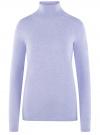 Свитер вязаный базовый oodji #SECTION_NAME# (фиолетовый), 74412005-8B/24514/8000M