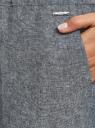 Брюки на завязках oodji #SECTION_NAME# (серый), 11710001/49284/7912N - вид 5