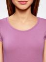Футболка женская (упаковка 2шт.) oodji для женщины (фиолетовый), 14701005T2/46147/4C00N