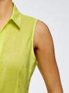 Рубашка базовая без рукавов oodji #SECTION_NAME# (зеленый), 11405063-4B/45510/6A00N - вид 5