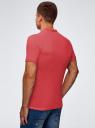Поло из ткани пике oodji для мужчины (розовый), 5B422001M/44032N/4700N