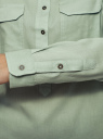 Рубашка хлопковая с нагрудными карманами oodji #SECTION_NAME# (зеленый), 13L11009/45608/7000N - вид 5