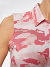 Топ вискозный с нагрудным карманом oodji для женщины (розовый), 11411108B/26346/4041O - вид 5