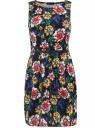 Трикотажное платье oodji для женщины (черный), 14005072-4R/37965/2912F