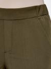 Брюки зауженные на эластичном поясе oodji #SECTION_NAME# (зеленый), 11703091/18600/6200N - вид 5