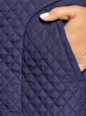 Юбка из фактурной ткани с молнией спереди oodji #SECTION_NAME# (синий), 11600410/38325/7900N - вид 5