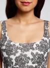 Платье-майка трикотажное oodji #SECTION_NAME# (белый), 14015007-3B/37809/1223E - вид 4