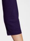 Платье трикотажное с принтом oodji #SECTION_NAME# (фиолетовый), 14001071-12/46148/8800P - вид 5