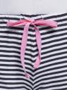 Пижама с шортами и принтом на груди oodji #SECTION_NAME# (белый), 56002188/46147/1075P - вид 5