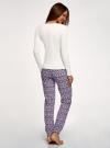Пижама хлопковая с брюками oodji для женщины (разноцветный), 56002226/46154/1283E - вид 3