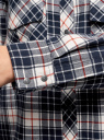 Рубашка свободного силуэта с надписью на спине oodji #SECTION_NAME# (синий), 11411139/46398/3079C - вид 5