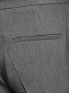 Брюки классические зауженные oodji для женщины (серый), 21700201B/18600/2500M - вид 4