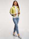 Куртка стеганая с короткими рукавами oodji для женщины (желтый), 10207003/45420/5001N - вид 6