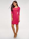 Платье трикотажное с рукавом 3/4 oodji для женщины (розовый), 24001100/42408/4D00N - вид 6