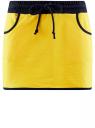 Юбка трикотажная спортивная oodji для женщины (желтый), 16801025-2B/46155/5100N