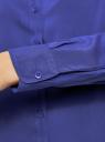 Блузка базовая из вискозы oodji #SECTION_NAME# (синий), 11411136B/26346/7503N - вид 5