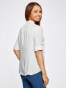 Блузка вискозная с регулировкой длины рукава oodji #SECTION_NAME# (белый), 11403225-2B/26346/1200N - вид 3