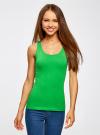 Майка базовая oodji для женщины (зеленый), 14315002B/46154/6A00N - вид 2