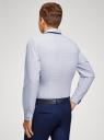 Рубашка хлопковая в мелкую графику oodji #SECTION_NAME# (белый), 3L110374M/19370N/1079G - вид 3