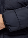 Куртка стеганая с капюшоном oodji #SECTION_NAME# (синий), 1B112027M/33743/7900N - вид 5