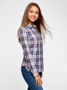 Рубашка принтованная хлопковая oodji #SECTION_NAME# (синий), 11406019/43593/7540C - вид 2