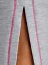 Юбка хлопковая на завязках oodji #SECTION_NAME# (серый), 14101111/46173/2000M - вид 4