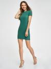 Платье трикотажное с коротким рукавом oodji #SECTION_NAME# (зеленый), 14011007/45262/6E00N - вид 6