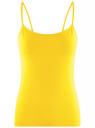 Топ трикотажный на тонких бретелях oodji для женщины (желтый), 14305023-1B/46147/5100N