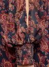 Платье шифоновое с манжетами на резинке oodji #SECTION_NAME# (синий), 11914001/15036/7949E - вид 5