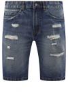Шорты джинсовые oodji #SECTION_NAME# (синий), 6L220017M/35771/7500W