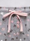 Брюки принтованные с завязками oodji для женщины (серый), 59807042-2/46154/2040O - вид 4