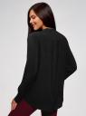 Блузка вискозная А-образного силуэта oodji #SECTION_NAME# (черный), 21411113B/42540/2900N - вид 3
