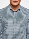 Рубашка extra slim в мелкую клетку oodji #SECTION_NAME# (зеленый), 3B140003M/39767N/1069C - вид 4