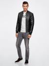 Куртка-бомбер из искусственной кожи oodji для мужчины (черный), 1L511044M/44375N/2900N - вид 6