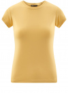 Футболка из эластичной ткани с круглым вырезом oodji #SECTION_NAME# (желтый), 14711003-2B/45297/5200N