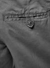 Шорты хлопковые на эластичном поясе с завязками oodji #SECTION_NAME# (серый), 2L710020M/44213N/2300N - вид 5