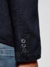Пиджак льняной прямого силуэта oodji #SECTION_NAME# (синий), 2L400005M/44233N/7900N - вид 5
