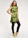 Платье хлопковое принтованное oodji для женщины (желтый), 14008040/44135N/6729G