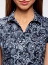 Блузка принтованная из легкой ткани oodji #SECTION_NAME# (синий), 21407022-9/12836/7974E - вид 4