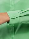Блузка базовая из вискозы oodji для женщины (зеленый), 11411136B/26346/6500N