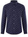 Рубашка хлопковая с нагрудным карманом oodji #SECTION_NAME# (синий), 3L310178M/48974N/7910G