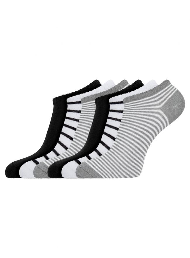 Комплект укороченных носков (6 пар) oodji для женщины (разноцветный), 57102433T6/47469/117